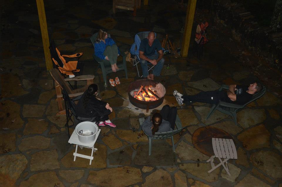 discuss raja yoga around the bonfire