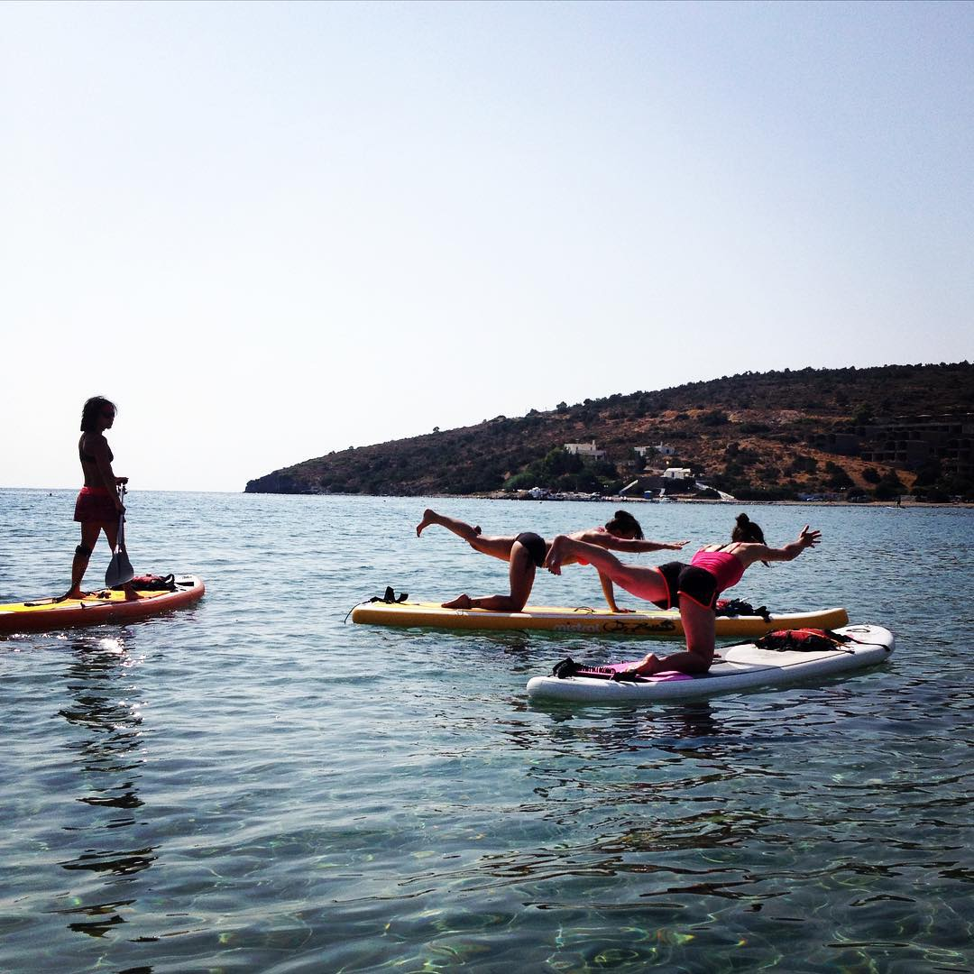 stand up paddle and yoga holiday aegina greece