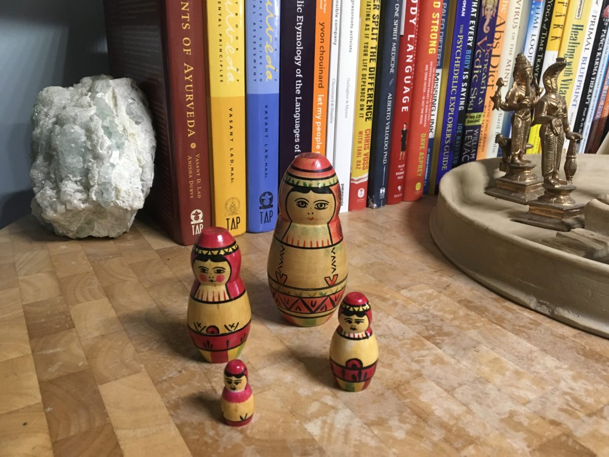 The matrix, the Upanishads and Russian nested dolls