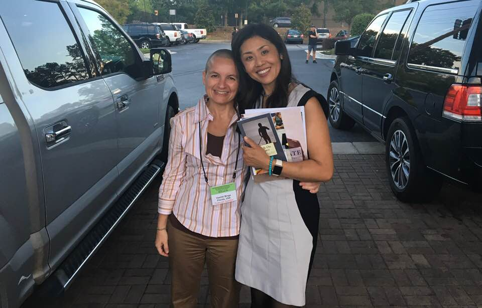 with snow shimazu of air beautiful at the global ayurveda conference in atlanta